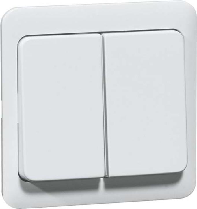 Peha Serientastaufsatz reinweiß für Dimmer/Schalter D 80.425.02