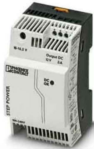 Phoenix Contact Stromversorgung Ausg. 12VDC/3A STEP-PS/ 1AC/12DC/3
