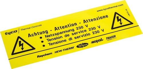 nVent Thermal Kennzeichnungsaufkleber -Elektrisch beheizt- LAB-ETL-CH