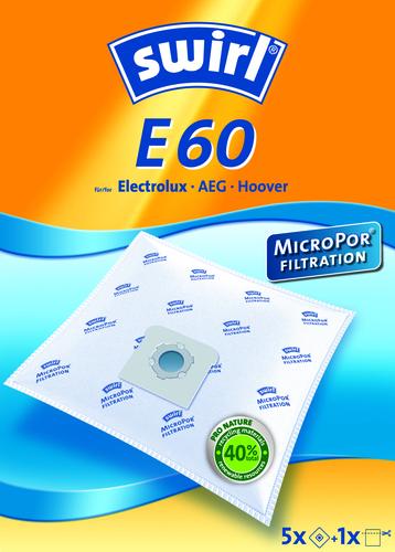 Melitta SDA Staubbeutel für Electrolux E 60 MicroPor (VE5)