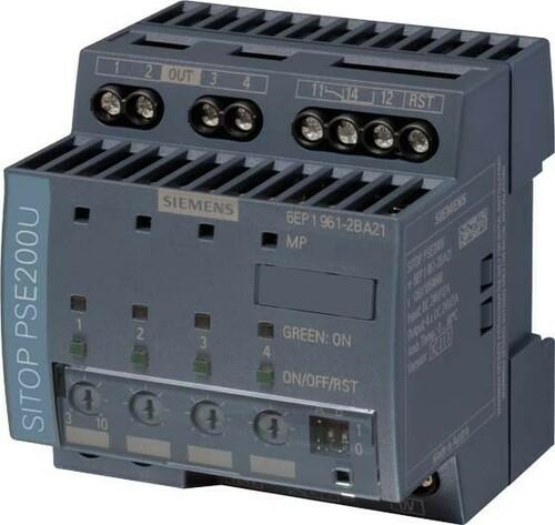 Siemens Indus.Sector Selektivitätsmodul 24VDC,4x10A,IP20 6EP1961-2BA21