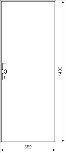 Hager Zählerschrank,universZ 1400x550x205,IP44 ZB52S