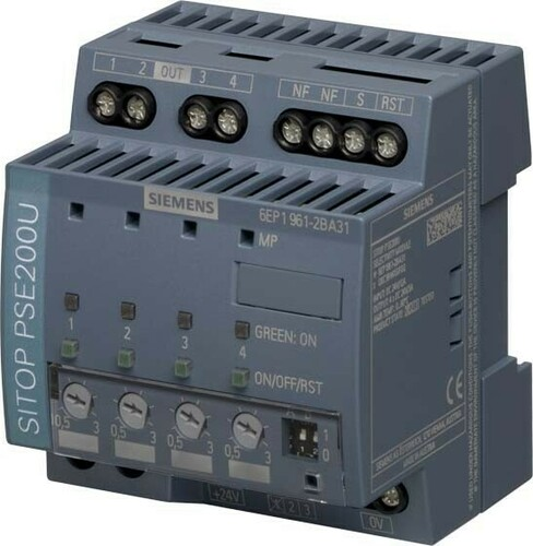 Siemens Indus.Sector Selektivitätsmodul 24VDC,4x3A,IP20 6EP1961-2BA31