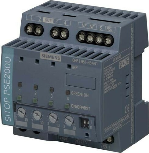 Siemens Indus.Sector Selektivitätsmodul 24VDC,4x10A,IP20 6EP1961-2BA41