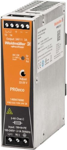 Weidmüller Schaltnetzgerät PRO ECO 72W 24V 3A