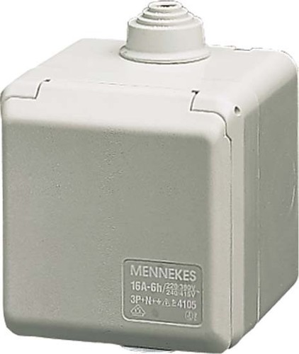 Mennekes Schuko-Wanddose Cepex 16A,2p+E,230V,IP44 4900
