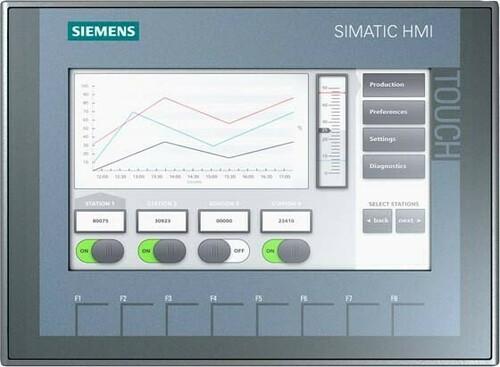 Siemens Indus.Sector SIMATIC TFT-Display KTP700, Touchbed. 6AV2123-2GA03-0AX0