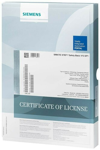 Siemens Indus.Sector Software Upgrade STEP 7 Safety Basic 6ES7833-1FB14-0YE5