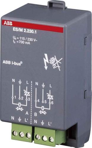 ABB Stotz S&J Elek.Schaltaktormodul 2-fach ch 230V ES/M2.230.1