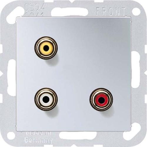 Jung Multimedia-Anschluss aluminium Cinch/CompositeVideo MA A 1031 AL
