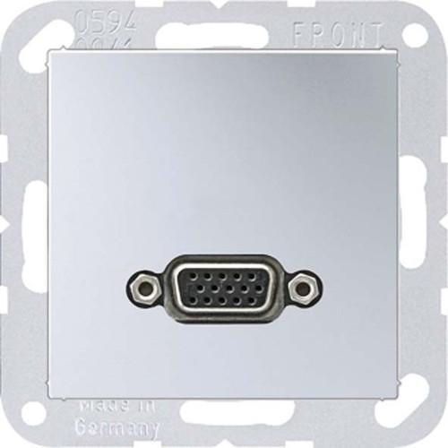 Jung Multimedia-Anschluss aluminium VGA m.Tragring MA A 1102 AL