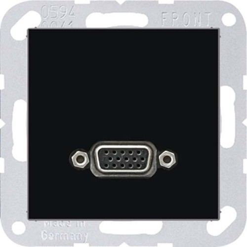 Jung Multimedia-Anschluss schwarz VGA m.Tragring MA A 1102 SW