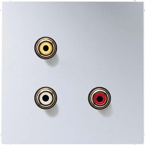 Jung Multimedia-Anschluss aluminium Cinch/CompositeVideo MA AL 1031