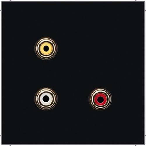 Jung Multimedia-Anschluss schwarz Cinch/CompositeVideo MA LS 1031 SW