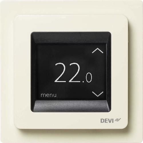 Devi Uhrenthermostat Touch-Display DEVIreg Touch weiß