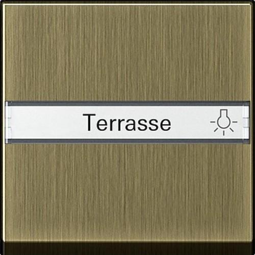 Gira Wippe Beschriftungsf. bronze System 55 0299603
