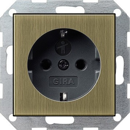 Gira SCHUKO-Steckdose KS System 55 brz/anth 0453603