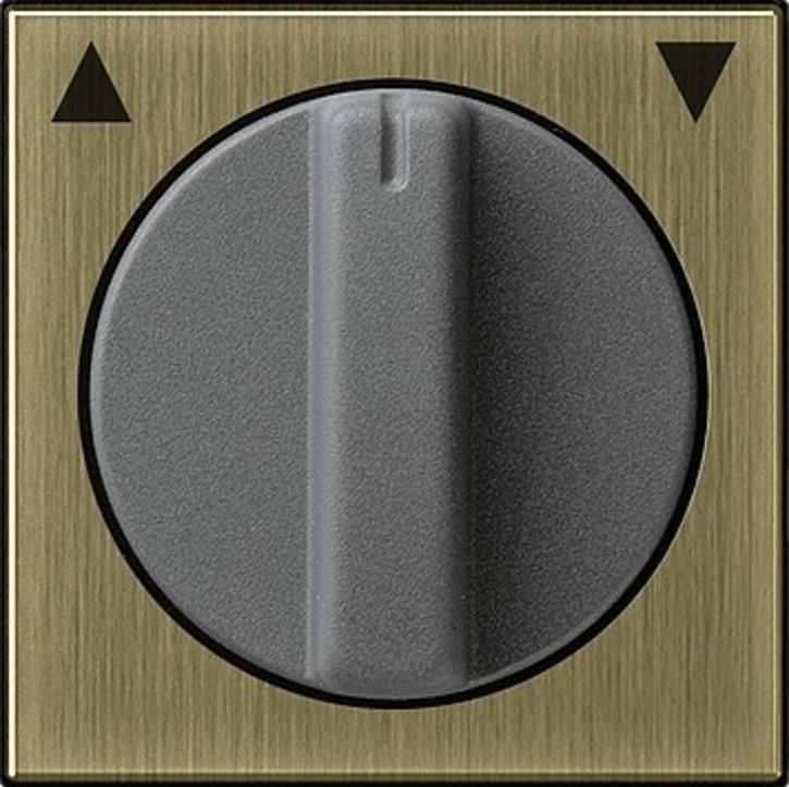 Gira Abdeckung m. Knebel bronze Jalousie 0666603
