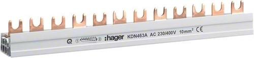 Hager Phasenschiene 3P+N,10q,12mod,Gabel KDN463A