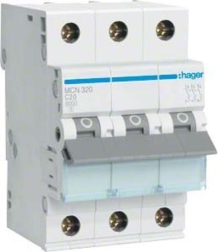 Hager Leitungsschutzschalter 3pol. C-20A, 6kA MCN320