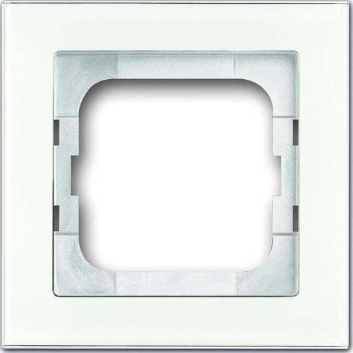 Busch-Jaeger Rahmen 1-fach weißglas 1721-280