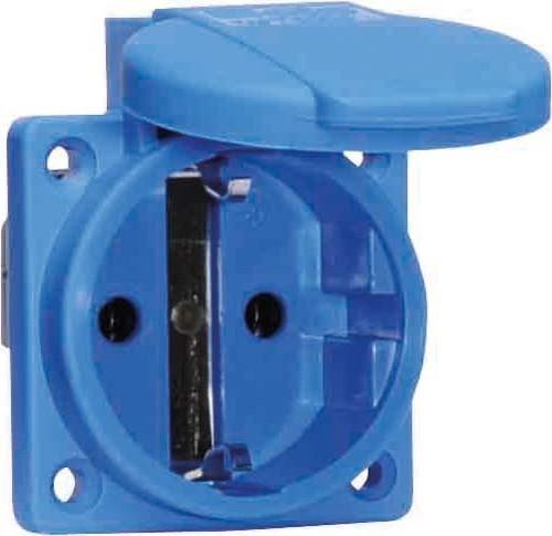 Bals Elektrotech. Schuko-Anbausteckdose 16A IP44 blau 71099