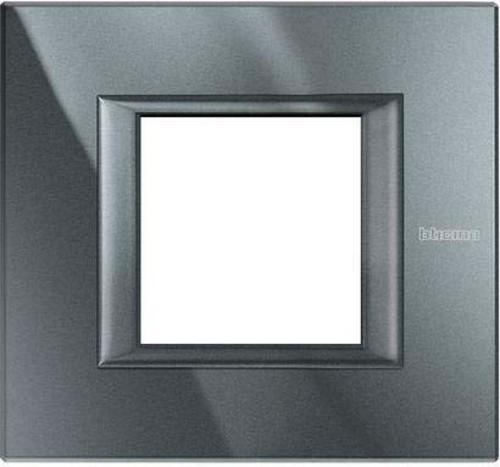 Legrand (SEKO) Axolute Rahmen 1-fach aluminium schwarz HA4802HS