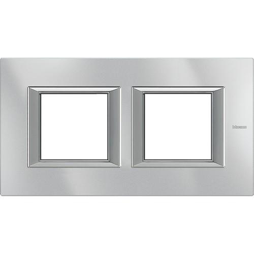 Legrand (SEKO) Axolute Rahmen hor.2-fach aluminium grau HA4802M2HHC