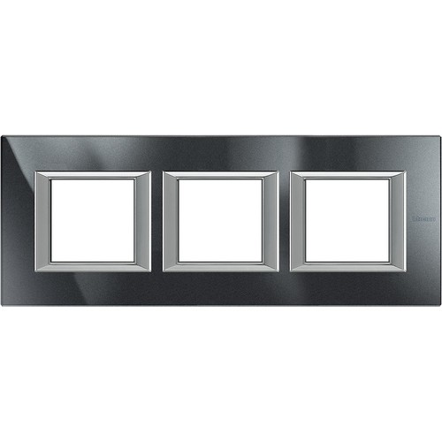 Legrand (SEKO) Axolute Rahmen hor.3-fach aluminium schwarz HA4802M3HHS