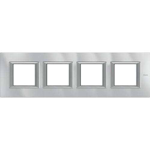 Legrand (SEKO) Axolute Rahmen hor.4-fach aluminium grau HA4802M4HHC