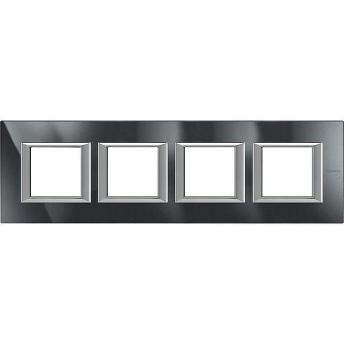 Legrand (SEKO) Axolute Rahmen hor.4-fach aluminium schwarz HA4802M4HHS