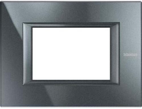 Legrand (SEKO) Axolute Rahmen 3-Modul aluminium schwarz HA4803HS