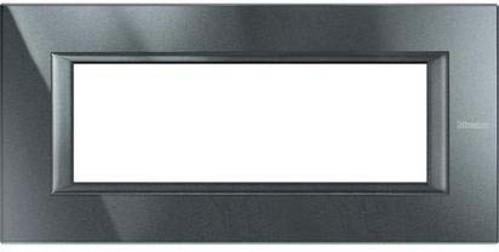 Legrand (SEKO) Axolute Rahmen 6-Modul aluminium schwarz HA4806HS