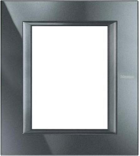 Legrand (SEKO) Axolute Rahmen 3+3Modul aluminium schwarz HA4826HS