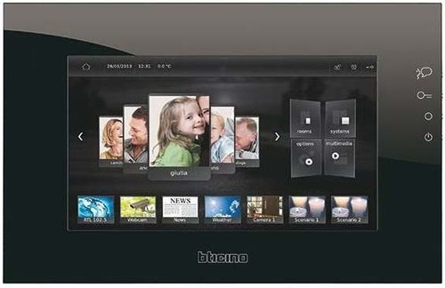 Legrand (SEKO) Multimedia Touch Screen kapazitiv schwarz MH4892C
