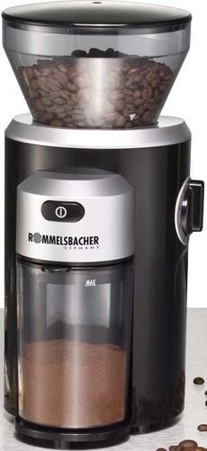 Rommelsbacher Kaffeemühle Kegelmahlwerk 150W schw. EKM 300 sw/si