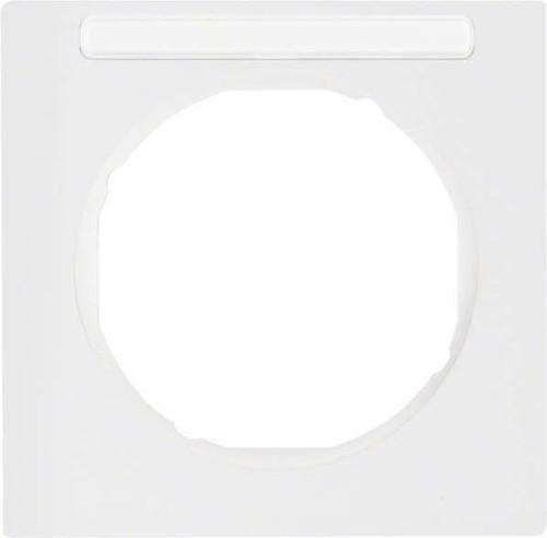 Berker Rahmen m.Beschriftungsfeld polarweiß glänzend 10112279