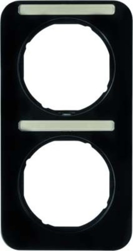 Berker Rahmen m.Beschriftungsfeld schwarz glänzend 10122125