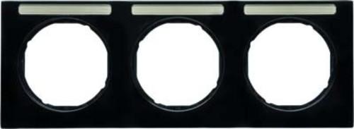 Berker Rahmen m.Beschriftungsfeld schwarz glänzend 10132235
