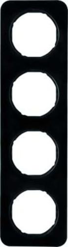 Berker Rahmen sw/gl 4-fach ch 10142145
