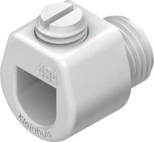 HKL Klemmnippel weiß D:3-6,5/L:18mm M10x1 434W