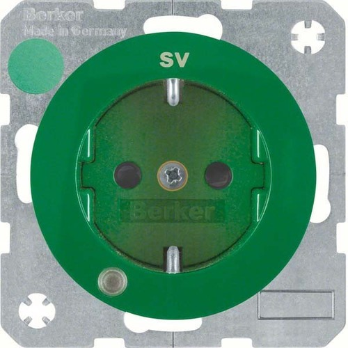 Berker SCHUKO-Steckdose gn/gl Kontroll-LED 41102003