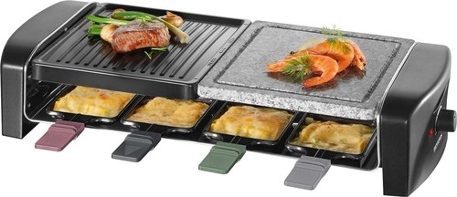Severin Raclette-Grill m.Naturgrillstein RG 9645 sw