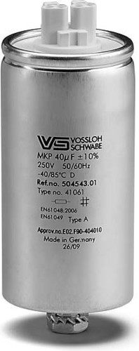 Houben Kondensator HS,HI,HM,LS 40.0uF,250V Alu 500321