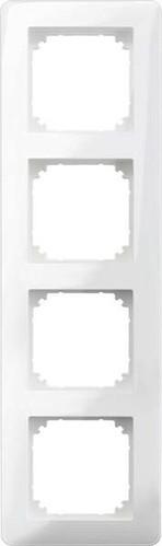 Merten Rahmen 4-fach polarweiß glänzend MEG4040-3519