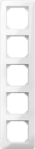 Merten Rahmen 5-fach polarweiß glänzend MEG4050-3519