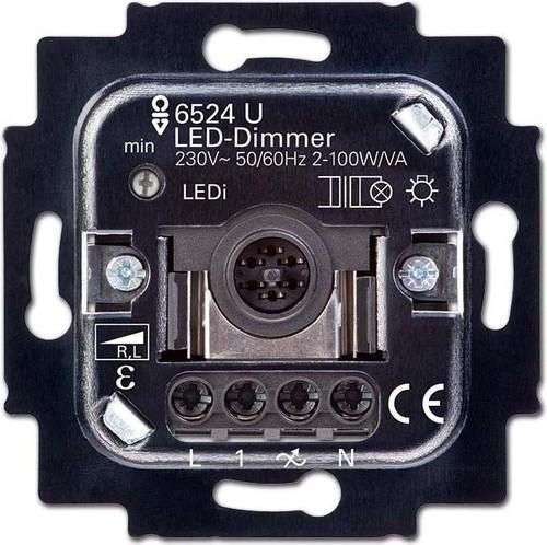 Busch-Jaeger LED-Dimmer mit Tastbetätigung 6526 U
