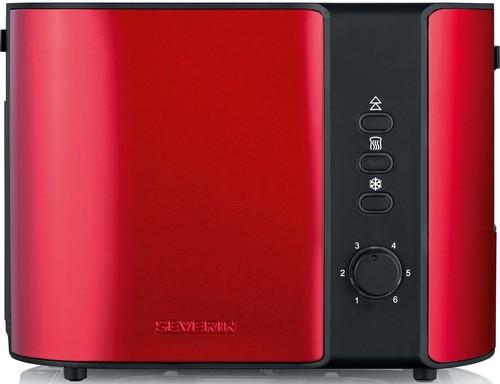 Severin Toaster 2 Scheiben AT 2217 Fire Red/sw
