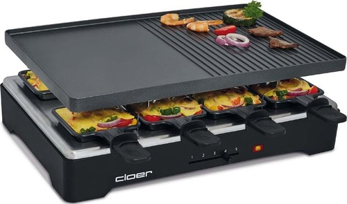 Cloer Raclette-Grill 8 Pfän,Antihaft 6446