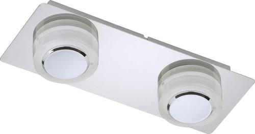 Briloner LED-Wandleuchte 2-fach g. 2x5 Watt chrom 2257-028